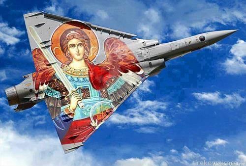 руски авион, нацртан со црковна слика