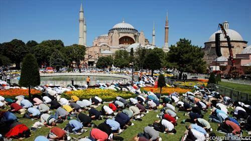 првата молитва во аја софија, по 86 години