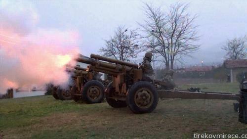 Со истовремена стрелба од шест артилериски орудија Армијата го одбележа влегувањето во НАТО
