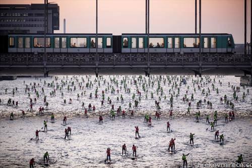 зимско веслање по сена париз