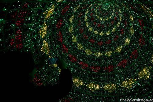 внатрешноста ана божикното дрво во Лисабон