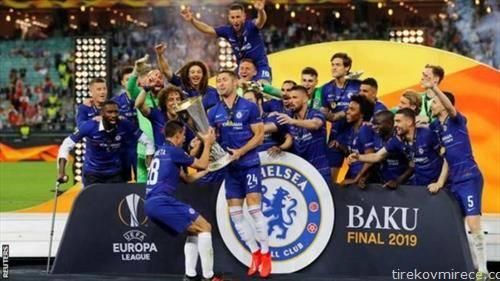 фудбалерите на Челзи ја освоија Лигата на Европа