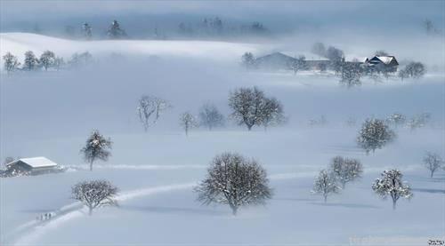 снежна приказна во Швајцарија