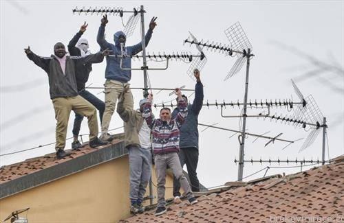 затвореници од Милано протестираат бидејќи се без заштита до корона вирусот