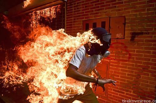 најдобра фотографија за 2017-та венецуелец во пламен