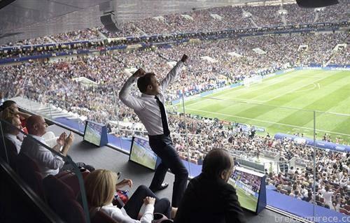 Францускиот претседател Маркон вака се радуваше на титулата првак на светот