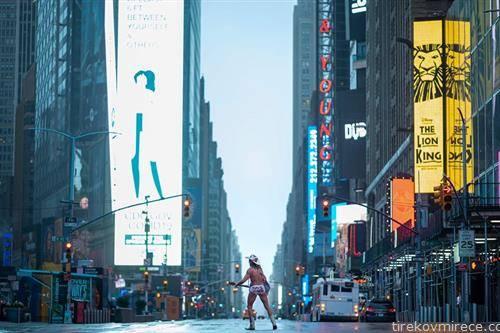 музичар на тајмс сквер во Њујорк