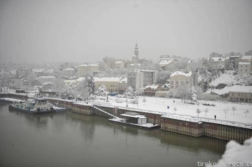 Белград под снег