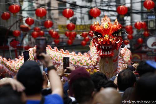 од пречекот на Кинеската Нова година