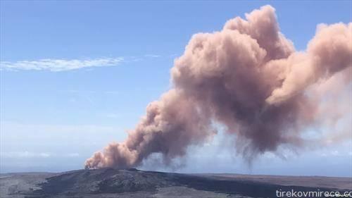 Повеќе од 1500 луѓе биле евакуирани од нивните домови поради вулканска ерупција на Хаваи