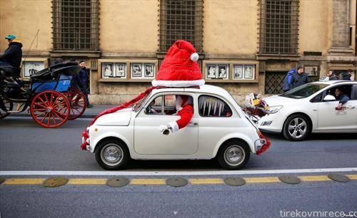 Дедо мраз во фиќо, во Рим