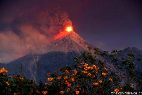 вулкан еруптира во Гватемала
