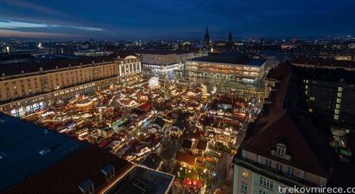 божикниот пазар во Дрезден