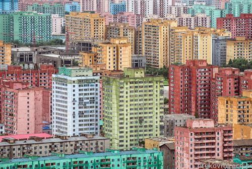 станбен блок во Пјонг Јанк Северна Кореја