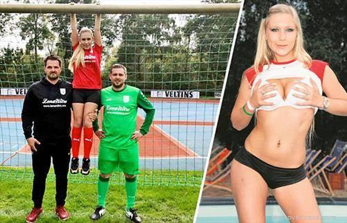 Порно актерка спонзорира германски  фудбалски клуб