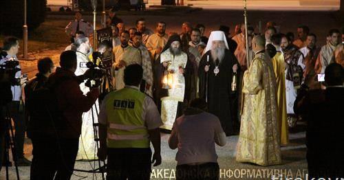 Благодатниот оган од Ерусалим пристигна во Скопје