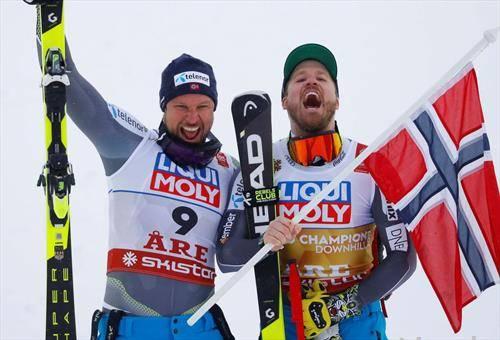 норвешко славје во спуст, јансруд е светски првак а свиндал со сребро ја заврши кариерата