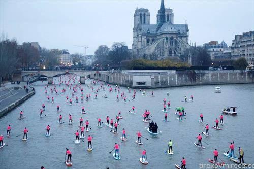 веслање на даска, по сена  во Париз