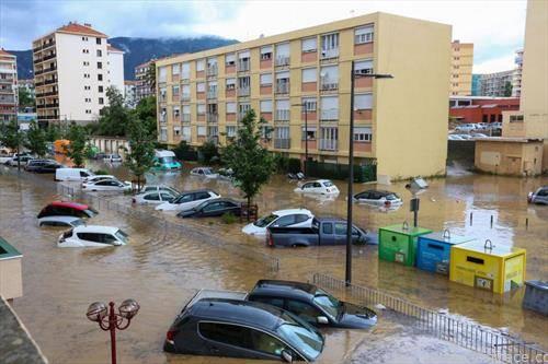пороен дожд на Корзика Франција