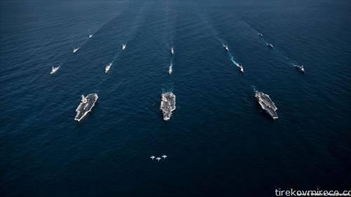 Бродови на американската воена морнарица пловат кон Блискиот Исток