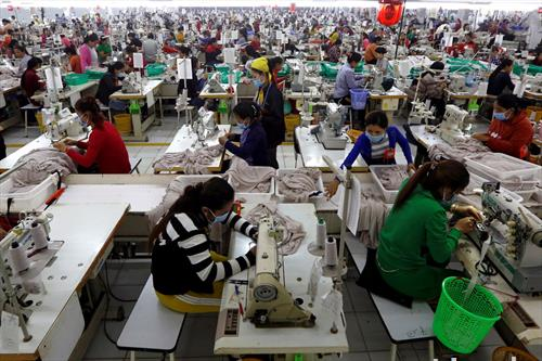 шивачка работилница во Камбоџа