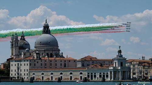 аеро -шоу над Венеција, на италијанското воздухопловство