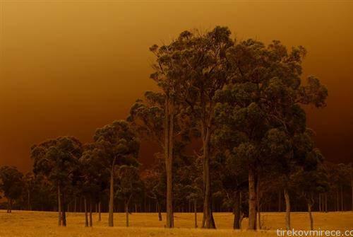 небото над Австралија, од пожарите