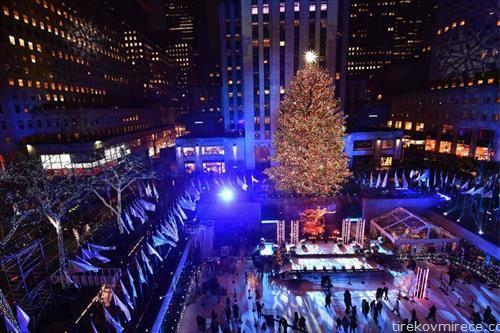 светна новогодишната елка пред Рокфелер центарот во Њујорк