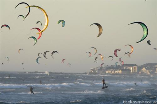 едрење на ветер на море, во Јужна африка