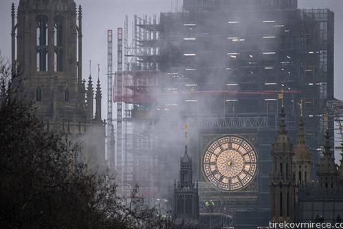 се поправа часовникот Биг Бен во Лондон