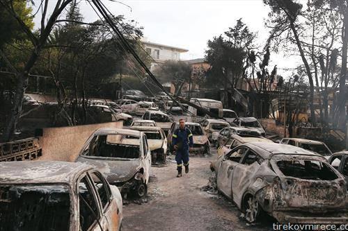 апокалиптична слика, Атина по пожарите од понеделникот навечер