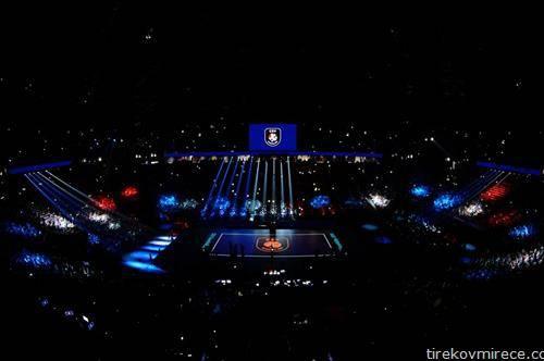 атмосферата пред полуфиналниот натпревар Франција Србија на Еп во одбојка