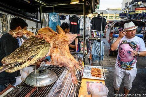 специјалитет, крокодил на ражен, во Банког