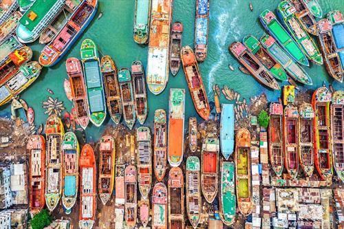 рибарски чамци во дака бангладеш