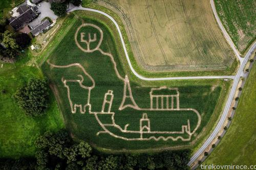 лавиринт во поле со пченка во германски град