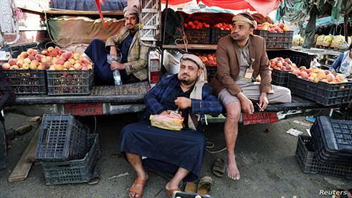 пазар на праски во Сана Јемен