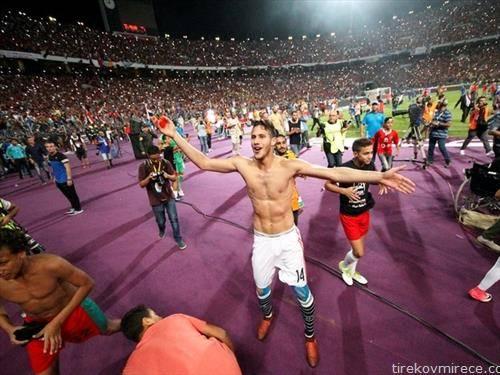радоста на фудбалерите  на Египет кои трет  пат по ред одат на СП