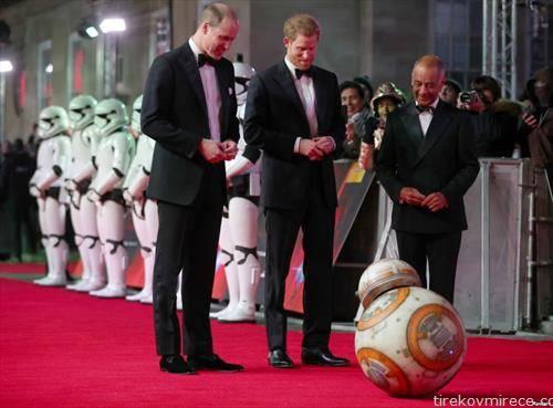 Британските принцови на премиерата на филмот  Војната на ѕвездите