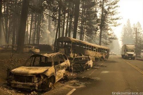 од пожарот во Калифорнија
