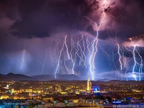 молњи над Загреб