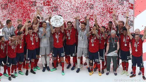 фудбалерите на Баерн Од Минхен се  прваци на Германија