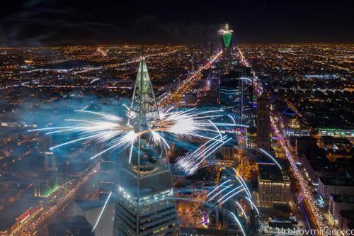 Ријад Саудиска Арабија, ноќе