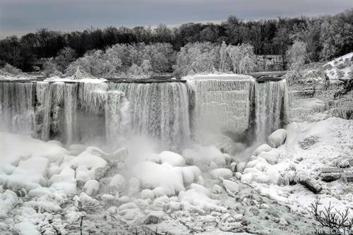 замрзнаа нијагарините водопади