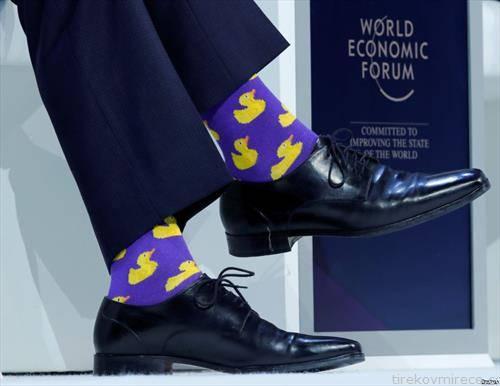 Канадскиот премиер Џастин Трудо  го привлече вниманието на Светскиот економски форум во Давос  со изборот на чорапи