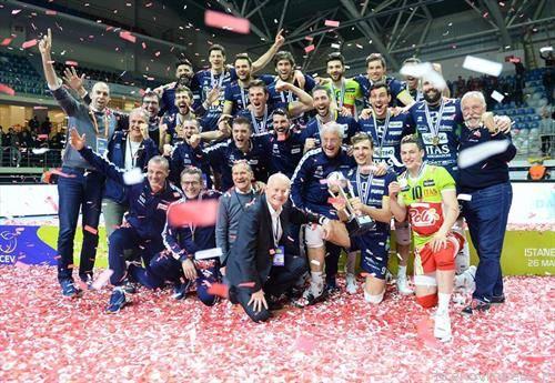 екипата на Трен тино го освои трофејот во одбојкарскиот ЦЕВ куп