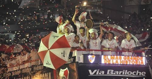 60.000 фанови на стадионот Монументал  ја прославија титулата на Ривер Плата првак на Јужна Америка