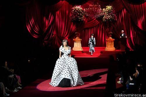 модна ревија на Долче и Габана во Милано