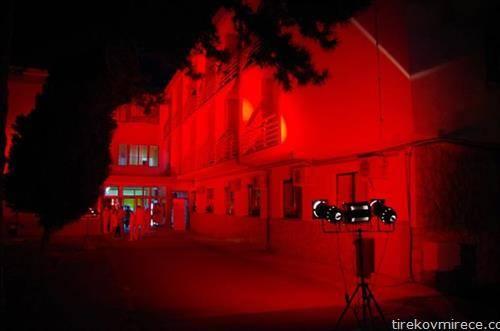 """Кардиолошкиот Завод""""од Охрид по повод Светскиот ден на срцето беше осветлен во црвено"""