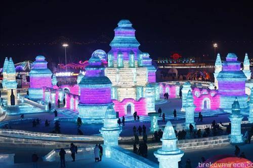 отворен снежниот град во Кина