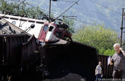 судар на два товарни воза во БиХ со двајца мртви